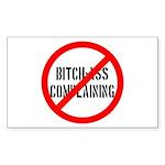 No Bitch-Ass Complaining Rectangle Sticker 50 pk)