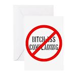 No Bitch-Ass Complaining Greeting Cards (Pk of 10)