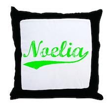 Vintage Noelia (Green) Throw Pillow