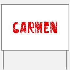Carmen Faded (Red) Yard Sign
