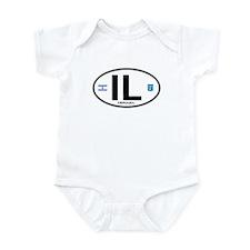 Israel Euro Oval Infant Bodysuit