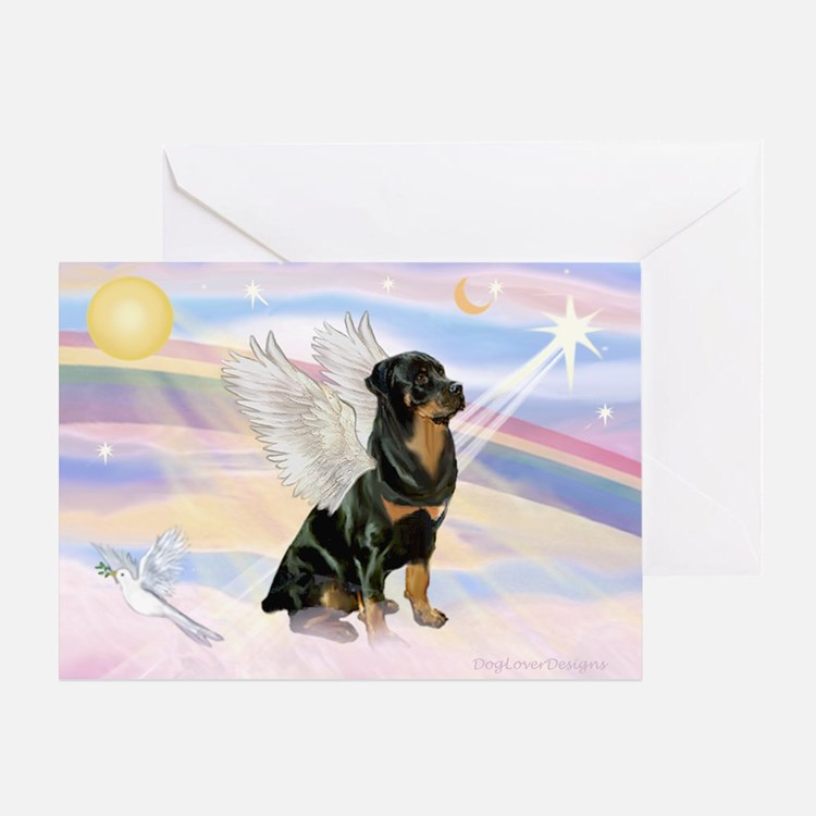 Clouds / Rottie Greeting Card
