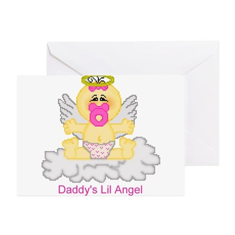 Daddy's Lil Angel Greeting Cards (Pk of 10)