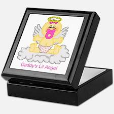 Daddy's Lil Angel Keepsake Box