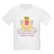 Daddy's Lil Angel Kids T-Shirt