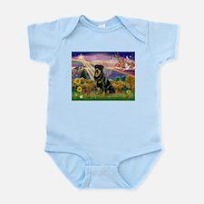 Autumn Angel & Rottie Infant Bodysuit