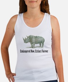 endangered rhinoceros Women's Tank Top