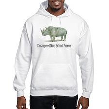 endangered rhinoceros Hoodie