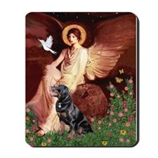 Seated Angel /Rottweiler Mousepad
