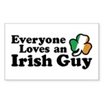 Everyone Loves an Irish Guy Rectangle Sticker