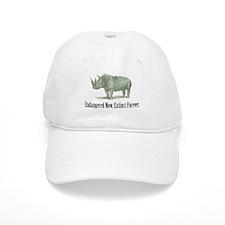 endangered rhinoceros Baseball Baseball Cap