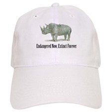 endangered rhinoceros Baseball Cap