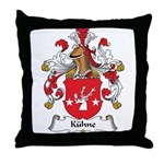 Kuhne Family Crest Throw Pillow