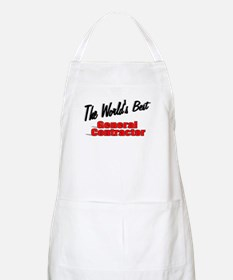 """The World's Best General Contractor"" BBQ Apron"