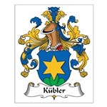 Kubler Family Crest Small Poster