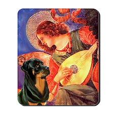 Mandolin Angel /Rottweiler Mousepad