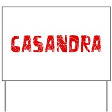 Casandra Faded (Red) Yard Sign