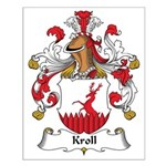 Kroll Family Crest Small Poster