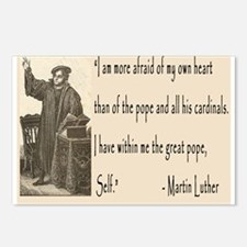 Martin Luther had the Pope, Self Postcards (Packag