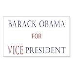 Vice President Obama Rectangle Sticker 10 pk)
