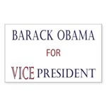 Vice President Obama Rectangle Sticker