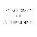 Vice President Obama Banner