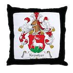 Kreutzer Family Crest Throw Pillow