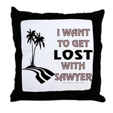 Lost With Sawyer Throw Pillow