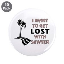 "Lost With Sawyer 3.5"" Button (10 pack)"