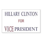 Vice President Hillary Rectangle Sticker