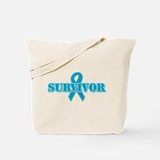 Teal Ribbon Survivor Tote Bag