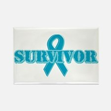Teal Ribbon Survivor Rectangle Magnet