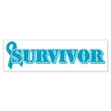 Teal Ribbon Survivor Bumper Bumper Sticker