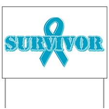 Teal Ribbon Survivor Yard Sign