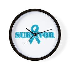 Teal Ribbon Survivor Wall Clock