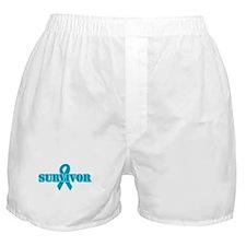 Teal Ribbon Survivor Boxer Shorts