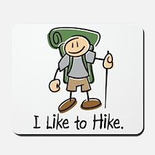 I Like To Hike (Green) Mousepad