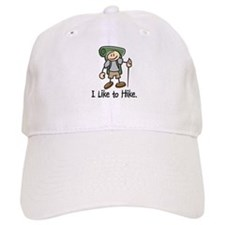 I Like To Hike (Green) Baseball Baseball Cap