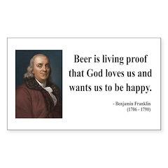 Benjamin Franklin 8 Rectangle Decal
