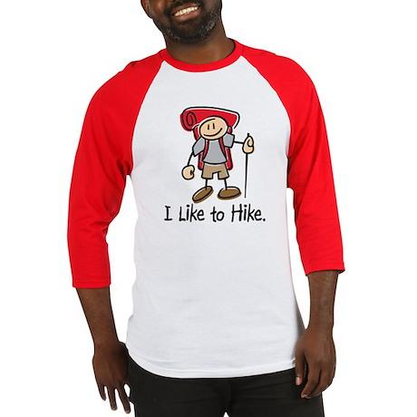 I Like To Hike (Red) Baseball Jersey