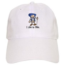I Like To Hike (Blue) Baseball Baseball Cap