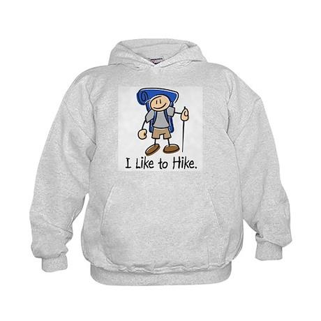 I Like To Hike (Blue) Kids Hoodie