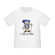 I Like To Hike (Blue) T
