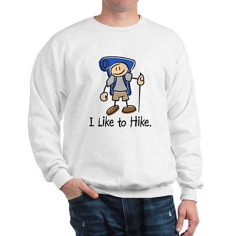 I Like To Hike (Blue) Sweatshirt