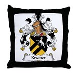 Krainer Family Crest Throw Pillow