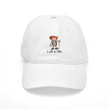 I Like To Hike (Orange) Baseball Cap