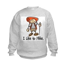 I Like To Hike (Orange) Sweatshirt