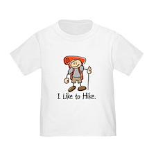 I Like To Hike (Orange) T