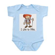 I Like To Hike (Orange) Infant Bodysuit