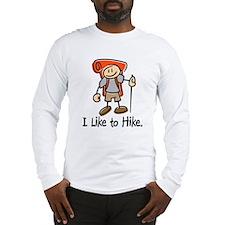 I Like To Hike (Orange) Long Sleeve T-Shirt